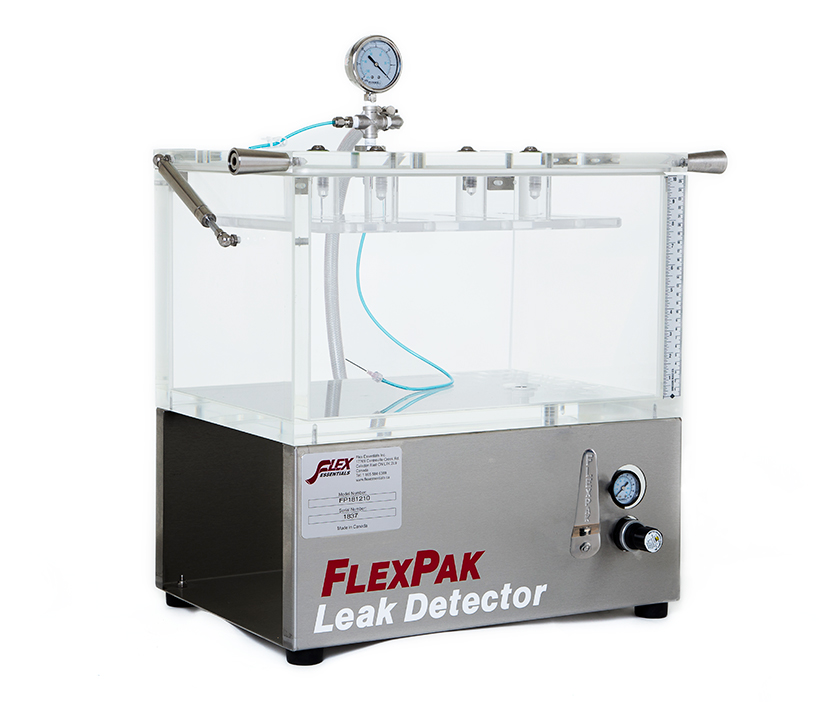 FLEXPAK TABLETOP MODEL WITH VACUUM PACKAGE ATTACHMENT